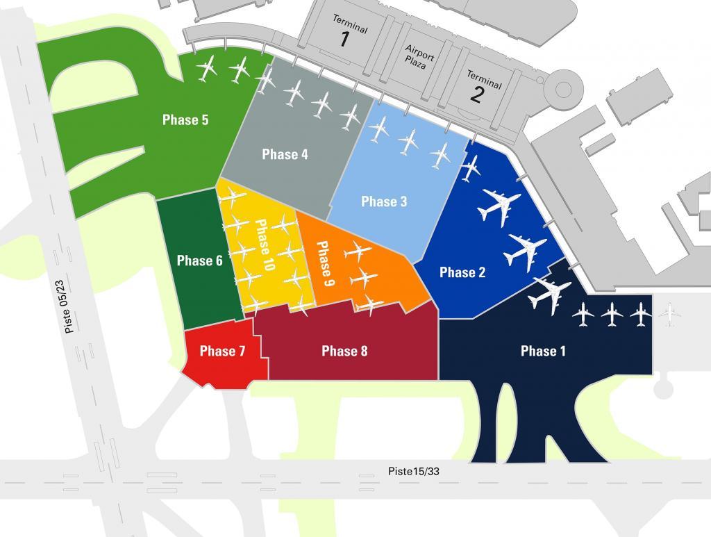 karte flughafen hamburg Flughafen Hamburg: Vorfeld Erneuerung läuft auch im Sommer nach