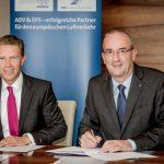 ADV-Hauptgeschäftsführer Ralph Beisel und DFS-Geschäftsführer Robert Schickling - Foto: DFS