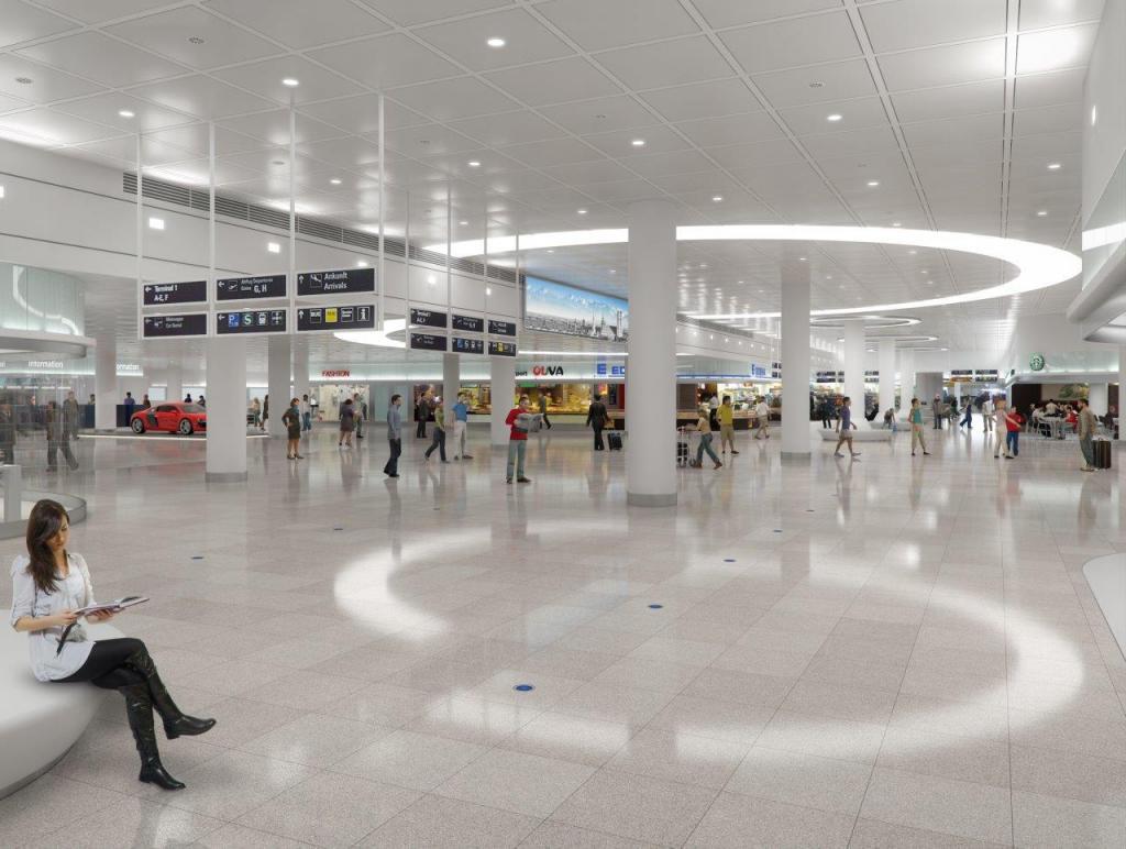 flughafen m nchen renovierung im terminal 2. Black Bedroom Furniture Sets. Home Design Ideas